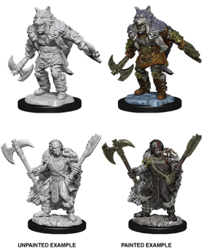 Male Half-Orc Barbarian: D&D Nolzur's Marvelous Miniatures
